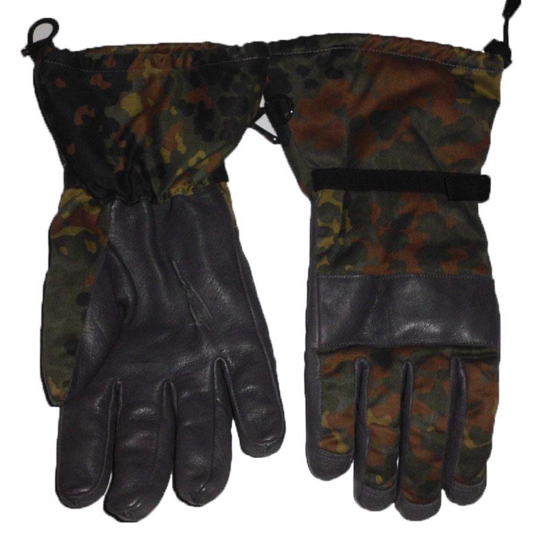 786a527db5e vojenské zimní prstové rukavice s kůží BW Flecktarn
